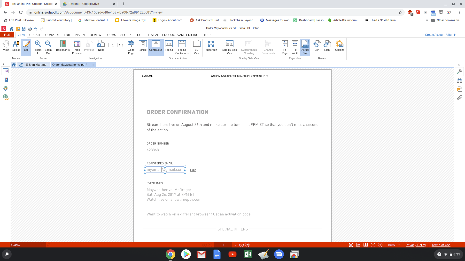 At any time, you can use a PDF combiner